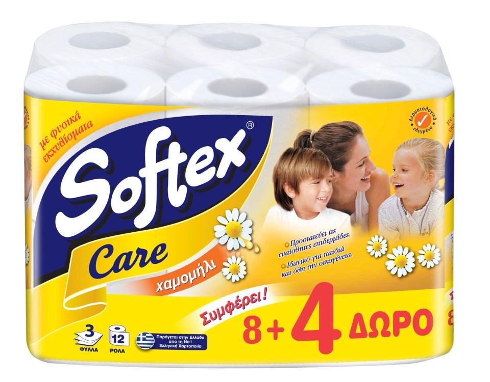 SOFTEX CARE CHAMOMILE 12(8+4)